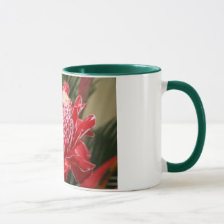 Exotic red torch ginger flower cup! mug