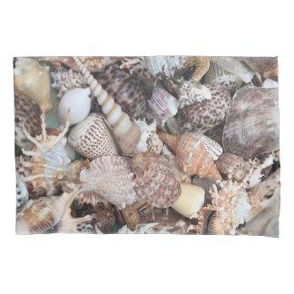Exotic Sea Shells Design Pillowcase