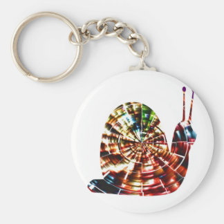 Exotic Snail - Sparkling Red Cosmic Energy Basic Round Button Key Ring