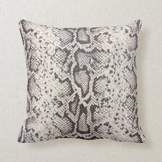 Exotic Snakeskin Pattern | white Cushions