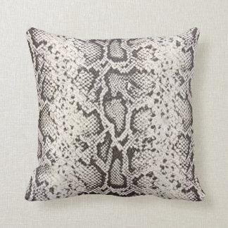Exotic Snakeskin Pattern | white Throw Pillow