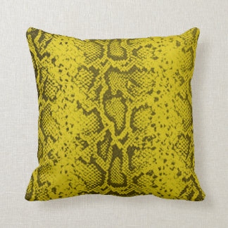 Exotic Snakeskin Pattern | yellow Throw Pillow