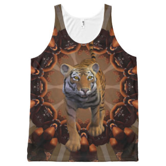 Exotic Tiger. All-Over Print Tank Top
