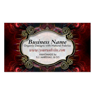 Exotic Tribal Red Artistry Business Cards
