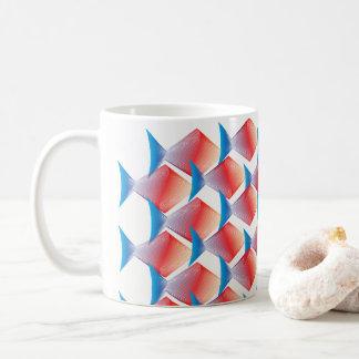 Exotic Tropical Fish Pattern Coffee Mug