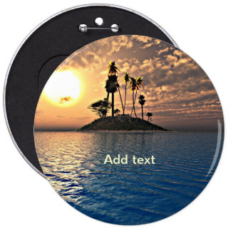 Exotic Tropical Island Template 6 Cm Round Badge