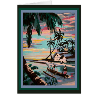 Exotic Tropical Paint-by-Number Nostalgia! Card