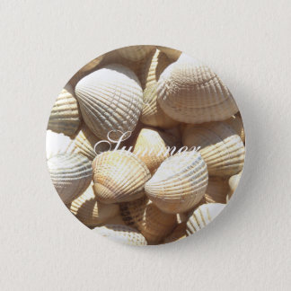 Exotic Tropical Sea Shell Summer Beach Photography 6 Cm Round Badge