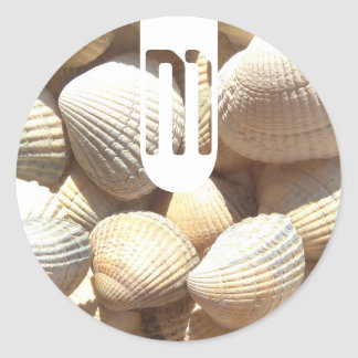 Exotic Tropical Sea Shell Summer Beach Photography Classic Round Sticker