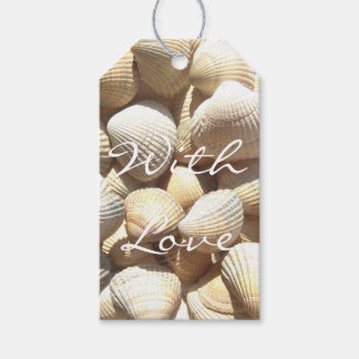 Exotic Tropical Sea Shell Summer Beach Photography Gift Tags
