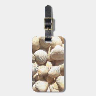 Exotic Tropical Sea Shell Summer Beach Photography Luggage Tag