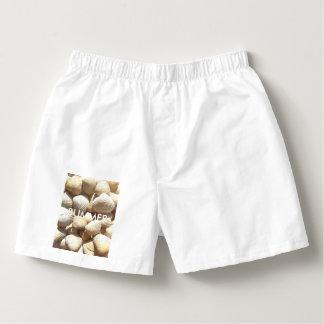 Exotic Tropical Sea Shells Summer Beach Theme Boxers