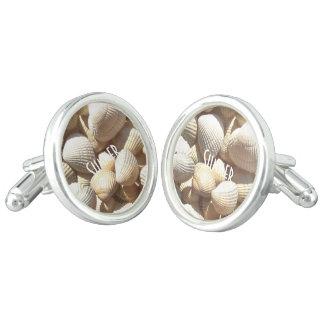 Exotic Tropical Sea Shells Summer Beach Theme Cufflinks