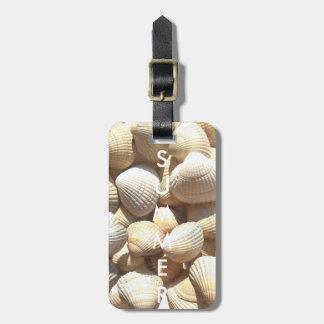 Exotic Tropical Sea Shells Summer Beach Theme Luggage Tag