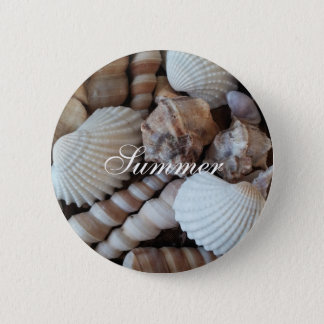 Exotic Tropical Summer Sea Shells Photography 6 Cm Round Badge