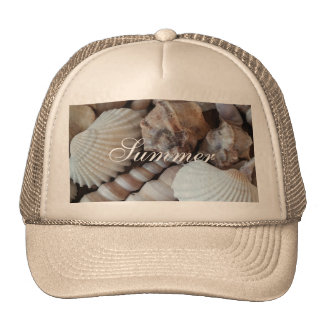 Exotic Tropical Summer Sea Shells Photography Cap