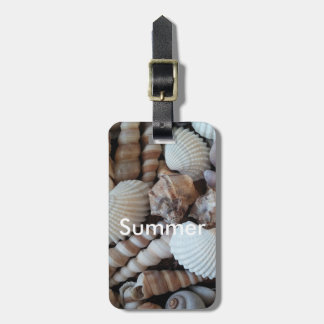Exotic Tropical Summer Sea Shells Photography Luggage Tag