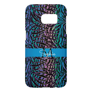 Exotic Turquoise Rainbow Zebra Animal Print