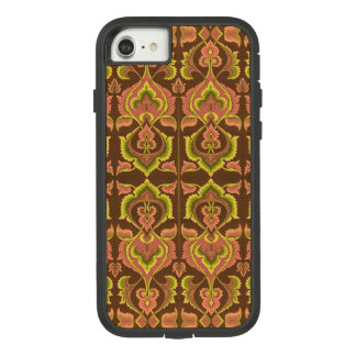 Exotic Vintage Autumn Colours Brown Green Yellow Case-Mate Tough Extreme iPhone 7 Case