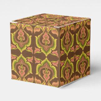 Exotic Vintage Autumn Colours Brown Green Yellow Wedding Favour Boxes