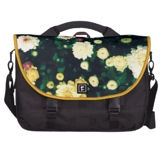Exotic white yellow flowers laptop computer bag