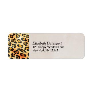 Exotic Wild Animal Print Personalized Return Address Label