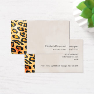 Exotic Wild Animal Skin Business Card