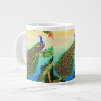 Exotic Wild Peacock Jumbo Mug