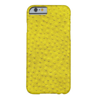 Exotic Yellow Ostrich Leather iPhone 6 Case Barely There iPhone 6 Case