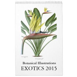 Exotics 2015 wall calendars