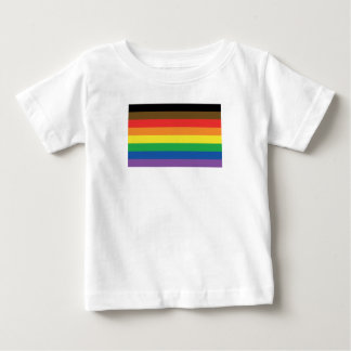 Expanded Gay Pride Rainbow Flag Customizable LGBT Baby T-Shirt