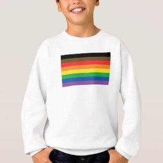 Expanded Gay Pride Rainbow Flag Customizable LGBT Sweatshirt