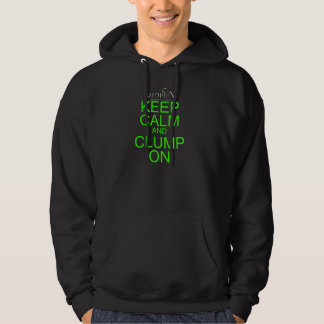 #ExpandYourClump Lime Green Words Hoodie