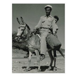 Expats transport in Aruba, 1946 Postcard