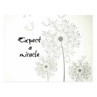 Expect a Miracle Inspirational Postcard