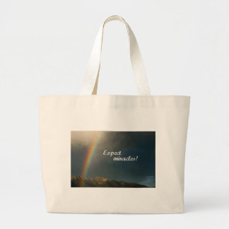 Expect Miracles! Large Tote Bag