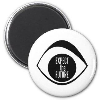 EXPECT THE FUTURE LOGO FRIDGE MAGNETS