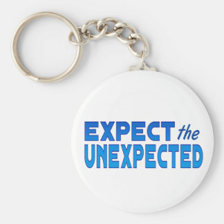 Expect the Unexpected Basic Round Button Key Ring