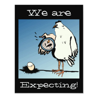 Expectant Chicken Baby Announcement