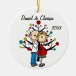 Expectant Couple Custom Holiday Ornament