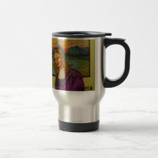 Expectant Mona Lisa Coffee Mugs