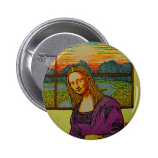 Expectant Mona Lisa Pin