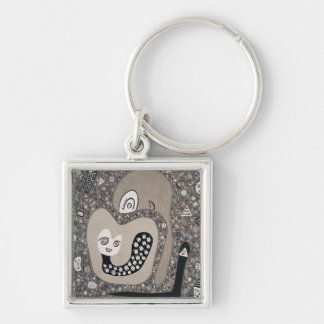 Expecting A Baby Silver-Colored Square Key Ring