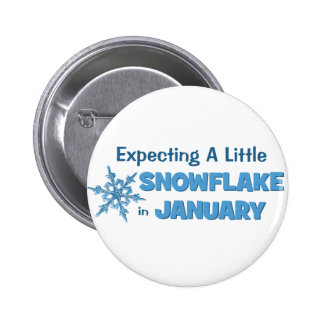 Expecting A Little Snowflake in January Maternity 6 Cm Round Badge