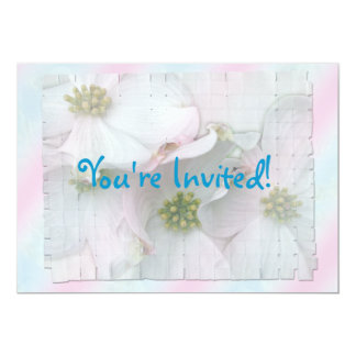 Expecting Baby Flowering Dogwood Shower Invitation