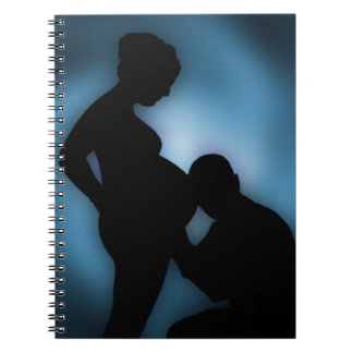 expecting baby spiral notebook