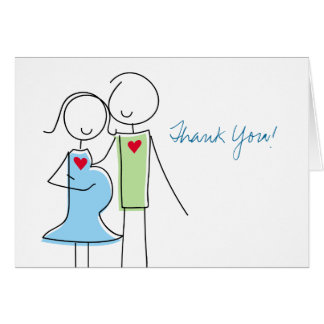 Expecting Couple, Coed Baby Shower Thank You Cards