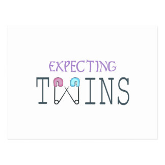 EXPECTING TWINS POSTCARD