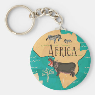 Experience Africa Vintage Travel Poster Key Ring