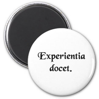 Experience teaches. refrigerator magnets